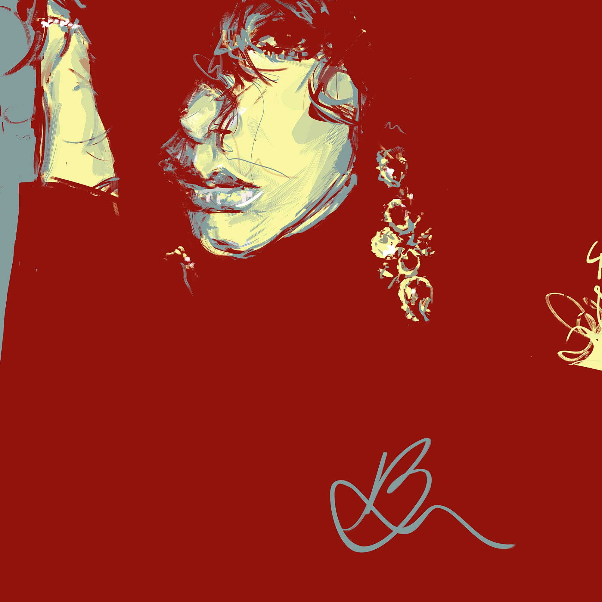 Illustration portrait wacom graphiste guadeloupe