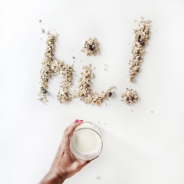 Instagram avoine petit-déjeuner lait de soja