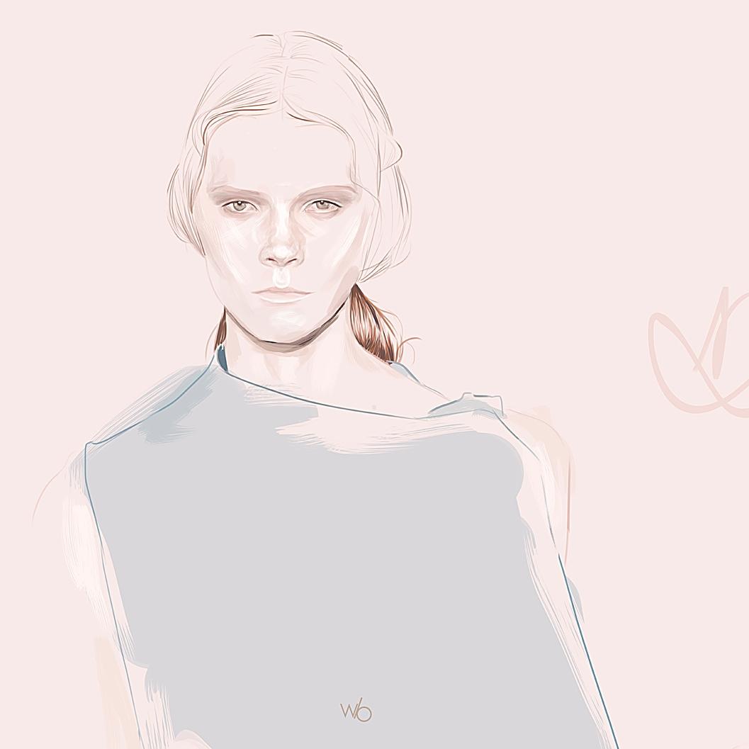 Illustration wacom Irina Kravchenko pour Valentino