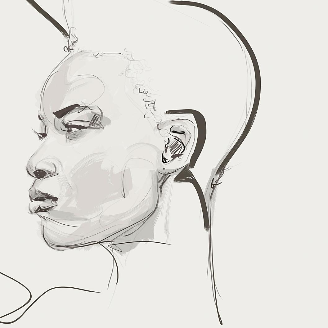 illustration wacom femme noire Kemi amusan