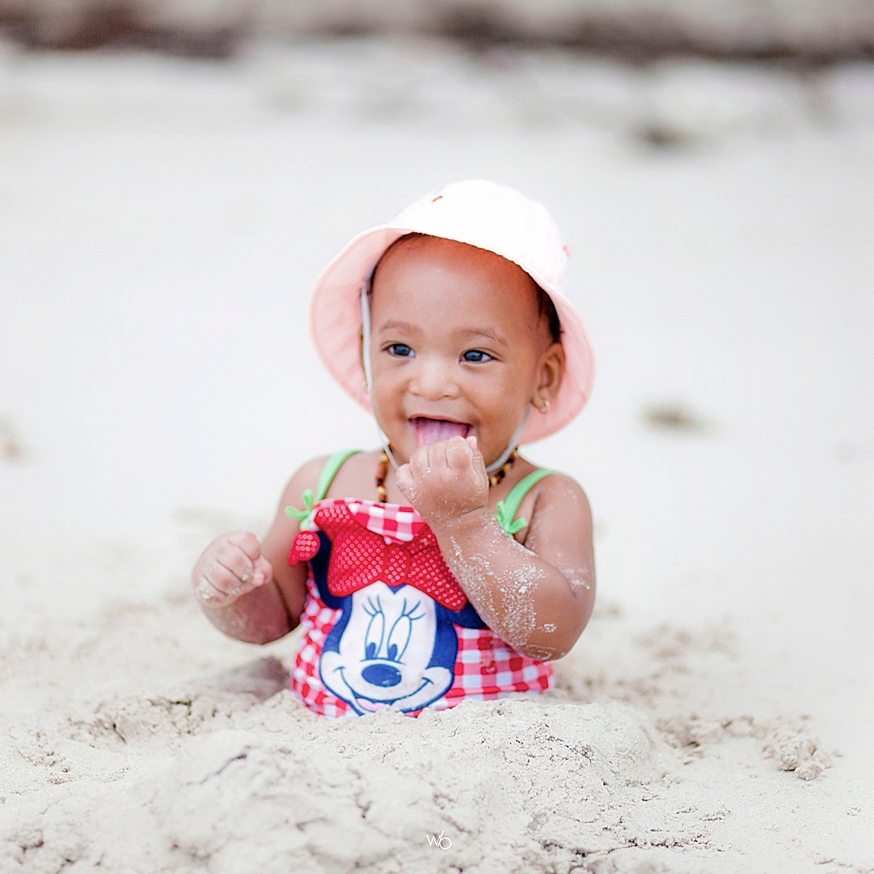 Bébé plage antilles