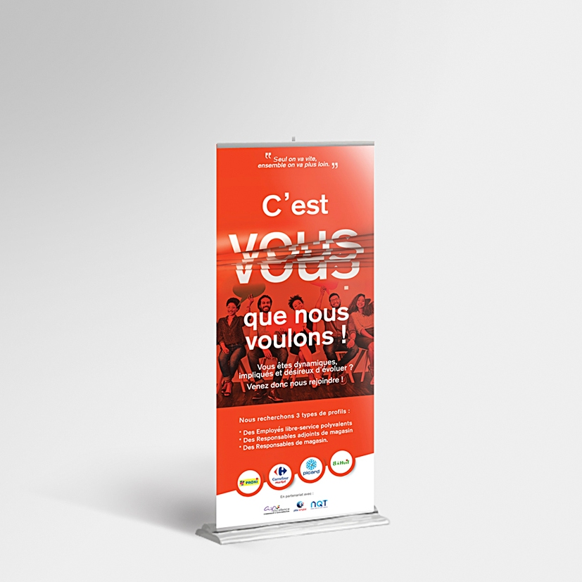 roll up maquette mockup safo carrefour picart guadeloupe graphiste